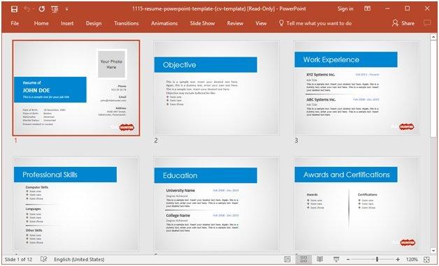 free-resume-template-1